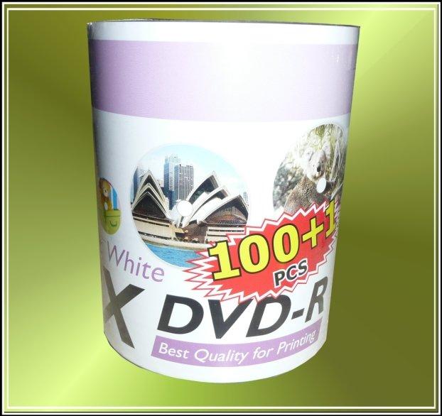 100 Ritek DVD-R 8X Full Inkjet Printable