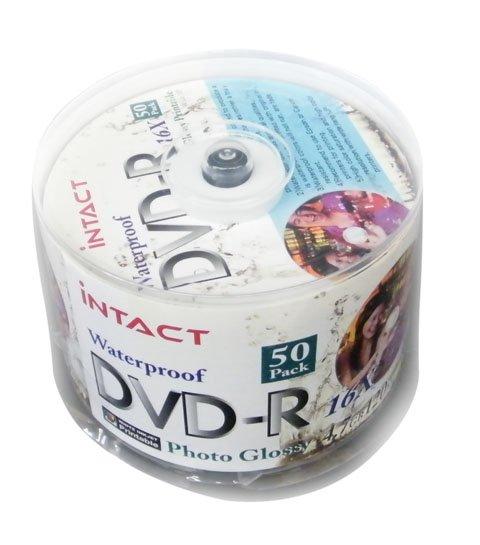 50 Intact DVD-R 16x Inkjet Print (Glossy/Watersheild)