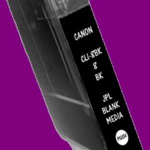JPL Phototech Canon CLI-8BK (With Chip) BLACK Inkjet Cartridge