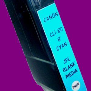 JPL Phototech Canon CLI-8C (With Chip) Cyan Inkjet Cartridge