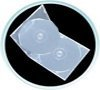 200 Mailer CD/DVD Clear Double 10mm Case