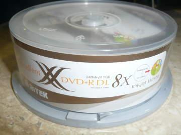 50 Ritek DVD+R DL 8X Inkjet Printable