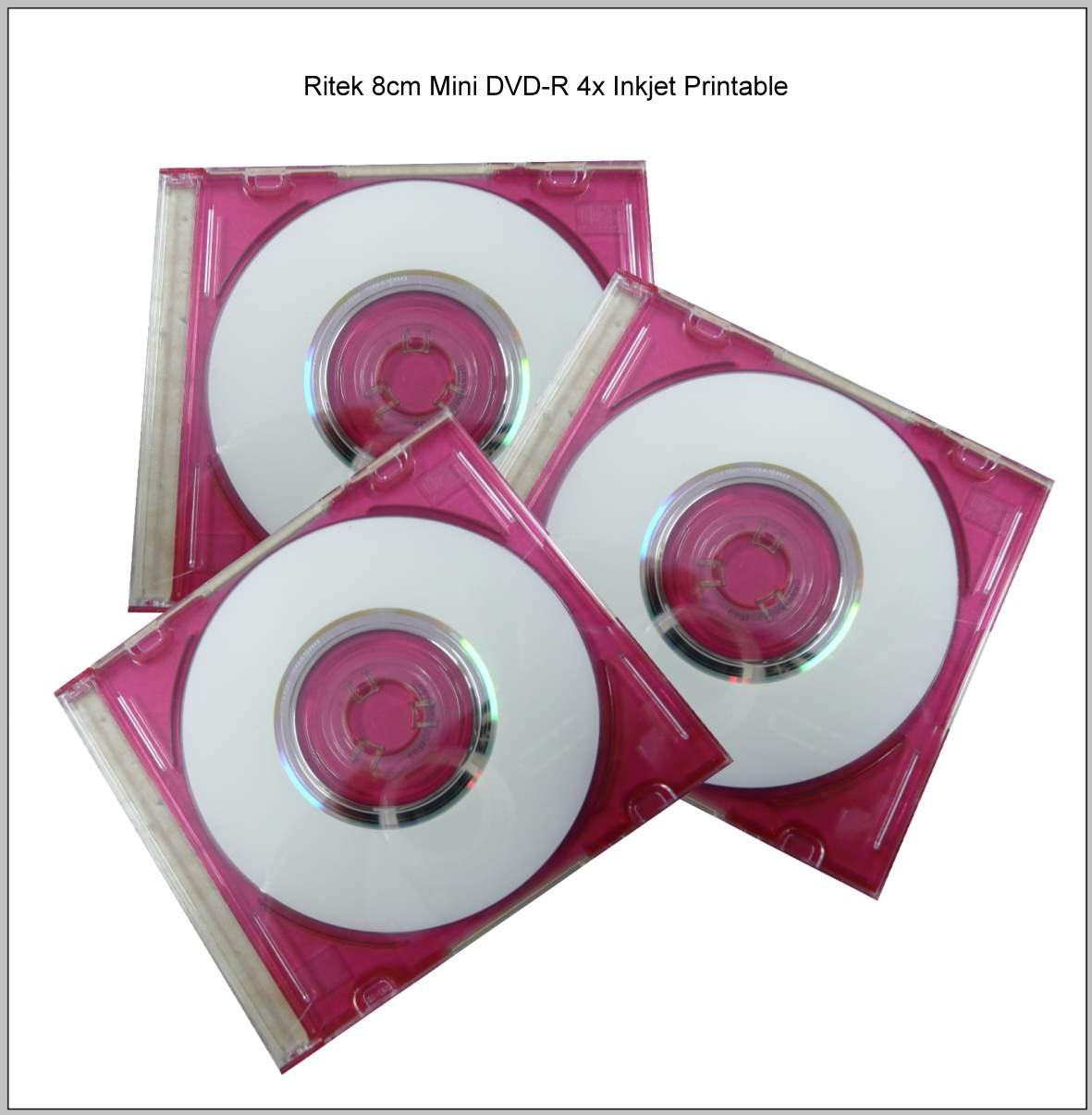 Ritek 8cm Mini DVD-R 4x Inkjet Printable