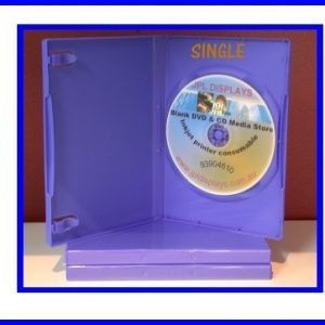 100 Blue 14mm DVD Cases