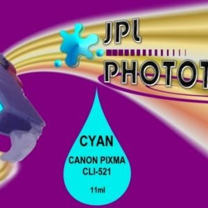 JPL Phototech Canon CLI-521C (With Chip) Cyan Inkjet Cartridge