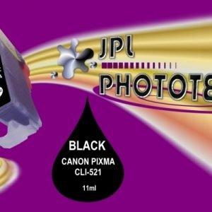 JPL Phototech Canon CLI-521B (With Chip) Black Inkjet Cartridge