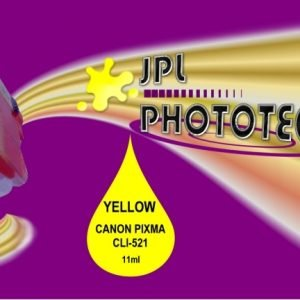 JPL Phototech Canon CLI-521Y (With Chip) Yellow Inkjet Cartridge