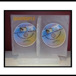 100 Four Clear 14mm DVD Cases