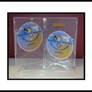 100 Double Super Clear 14mm DVD Cases