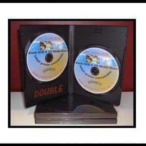 100 Double Black 14mm DVD Cases