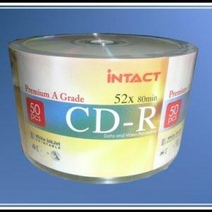 50 Intact CD-R 52x Inkjet Printable