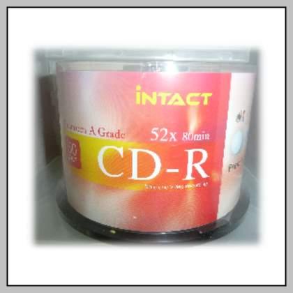 50 Intact CD-R 52x  Gloss Inkjet Printable