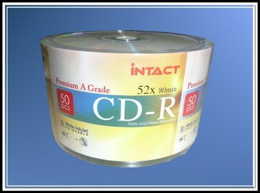 600 (Bulk Pack) Intact CD-R 52x Inkjet Printable
