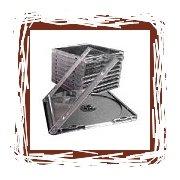 100 CD Black Double Jewel Cases