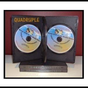100 Four Black 14mm DVD Cases