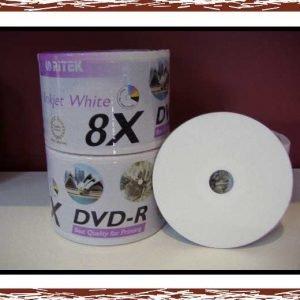 600 (Bulk Pack) Ritek DVD-R 8X Inkjet Print