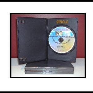 100 Black 14mm DVD Case