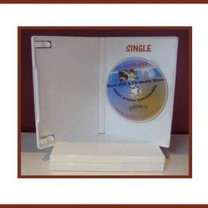 100 White 14mm DVD Case