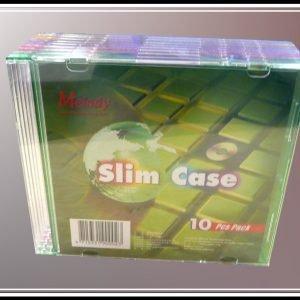 10 Colour Slim CD Cases