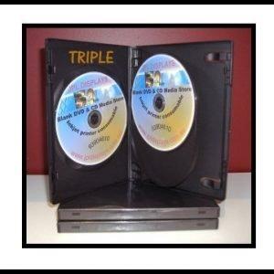 100 Triple black 14mm DVD Cases